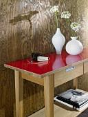 Sideboard, Holztisch, lackiert, Lack hochglänzend, Tischfläche