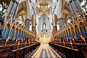 Interior of Westminster Abbey, London, UK