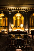Elegant Beaufort Bar at Savoy Hotel, London