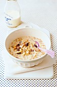 A bowl of Bircher muesli