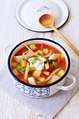 Haddock stew with vegetables