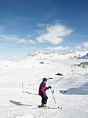 Skier skiing in Titlis, Engelberg, Switzerland