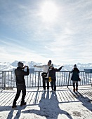 Tourist at holiday in Titlis, Uri Alps, Engelberg, Switzerland