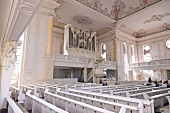 Interior of St. Ludwig in Baroque style at Saarland, Germany
