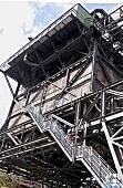View of stairs in industrial monument, Volklingen, Saarland, Germany