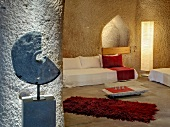 Living room at Hotel Asmali Cave House, Uchisar, Cappadocia, Turkey
