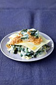 Chard and vegetable lasagne