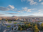 View of Kayseri city in Anatolia, Turkey