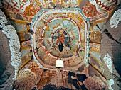 Overhead view of Church ceiling of Ihlara Valley, Cappadocia, Turkey