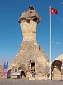 View of Zelve Monastery at Cappadocia, Anatolia, Turkey