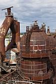 View of industry at Volklingen, Saarbrucken, Saarland, Germany