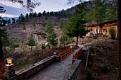 Private villa of Uma Paro Hotels, Bhutan