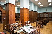 View of library of Victorian College in Alexandria, Egypt