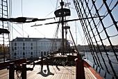 Deck of Ship Amsterdam, National Maritime Museum, Amsterdam, Netherlands