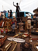 Waterlooplein Flea market stall in Jewish quarter, Amsterdam, Netherlands