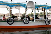 People travelling in ferry in Nile river, Aswan, Egypt