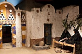 View of ancient street scene in Nubia Museum at Aswan, Egypt