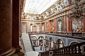 New castle interior and staircase in Herrenchiemsee, Chiemgau, Bavaria, Germany