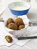 Falafel with sesame seed sauce