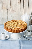 Crostata with ricotta and pine nuts (Italy)