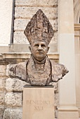 Statue of Pope Benedict XVI, Chiemgau, Bavaria, Germany