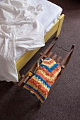 Room with bed and sledge at Photo Motel, Wolfhager road 53, Kassel, Hessen, Germany