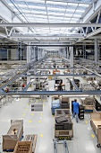 Production hall of SMA Solar Technology AG, Niestetal, Hesse, Germany