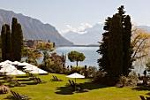 View of Hotel Garden Le Montreux Palace, Geneva, Switzerland