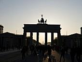 Brandenburger Tor im Abendrot, Mitte, Berlin, Deutschland