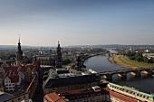 Blick auf die Elbe, Dresden, Sachsen Deutschland