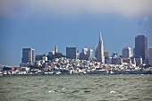 View of Cityscape with skyline and Pacifica Ocean in San Francisco, California, USA