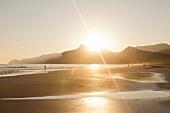 Oman, Dhofar, Salalah, Maghsail Bay Beach, Meer, Strand, Sonnenschein