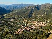 View of mountain landscape in Urzulei, Ogliastra province, Sardinia