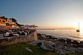 View of Novigrad and sea at sunset, Istria, Croatia