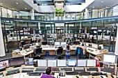 Network Operation Center in RTL, Rheinhallen, Deutz, Cologne, Germany