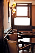 Interior of restaurant Harry's Bar in Venice, Italy