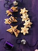 Macadamia-Kokos-Sterne und Nuss-Schnitten