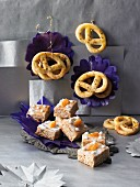 Spiced cake and anise pretzels