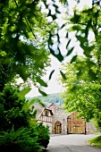 Entrance of monastery Gerode through driveway, Germany
