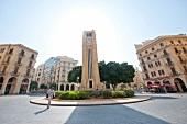 Hamidiya Clock Tower in Najmah Square at Place De L'Etoile, Beirut, Lebanon
