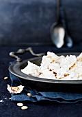 Crispy pine nut macaroons