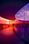 Aarhus, Kunstmuseum Aros, Rainbow Panorama, Blick auf Aarhus