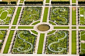 View of Royal gardens of Herrenhausen Palace, Elevated View, Hanover, Germany