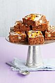 Vanilla and rooibos fruitcake