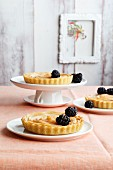 Mini quince tarts with rosewater syrup