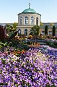 View of Library Building in Herrenhausen Gardens, Hanover, Germany