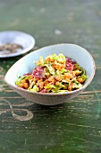 Lentil and pointed cabbage salad