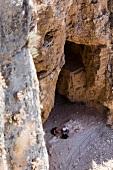 People at Jesus Trail hiking and pilgrimage route in Galilee region of Israel