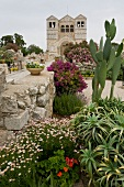 Garden in front of Church of the Transfiguration, Mount Tabor, Israel