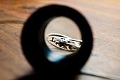 Close-up of watch through lens, Le Sentier, Vallee de Joux, Switzerland